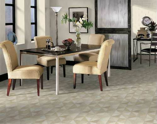 Dining room areas flooring idea trilenium by armstrong for Dining room flooring