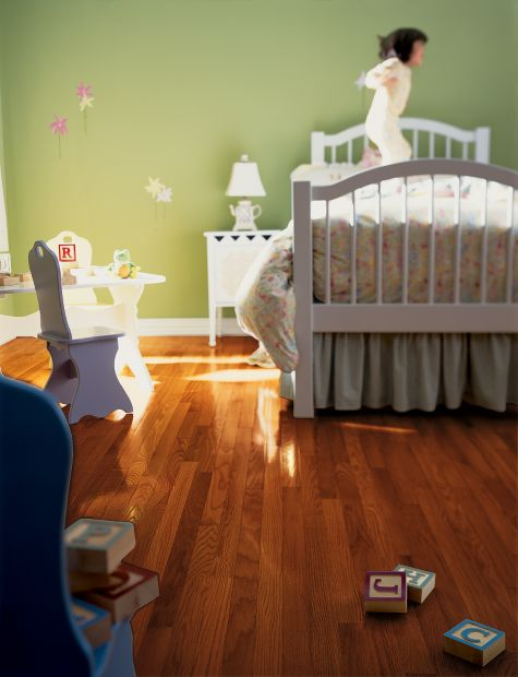 Nursery baby rooms flooring idea oak cherry by for Hardwood floors and babies