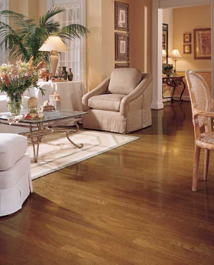 Living rooms flooring idea hatteras oak strip by Wood flooring ideas for living room
