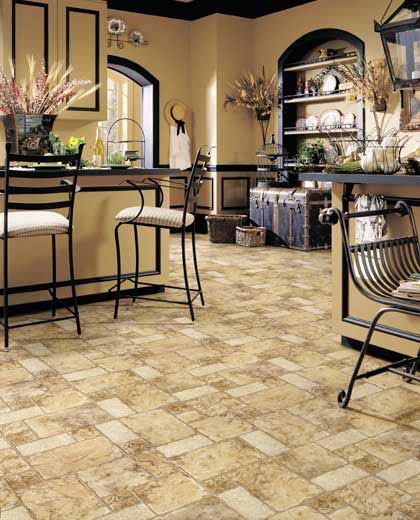 Kitchens flooring idea cozumel by mannington vinyl flooring for Vinyl floor ideas for kitchen