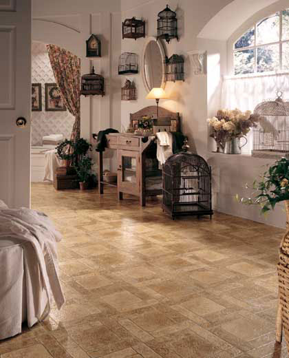 French country cottage bathroom for Country cottage floor tiles