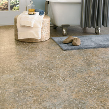 Bathrooms designs courtesy of Mannington Vinyl Flooring   All rights  reserved. Bathrooms flooring idea   Benchmark  Marina by Mannington Vinyl