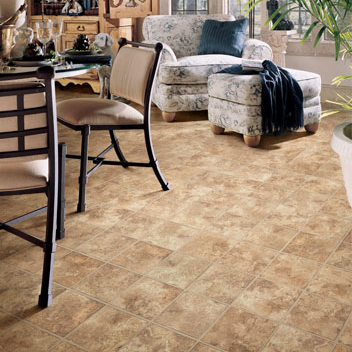 Dining Room on Dining Room Area Flooring Idea   Jumpstart Montaro By Mannington Vinyl