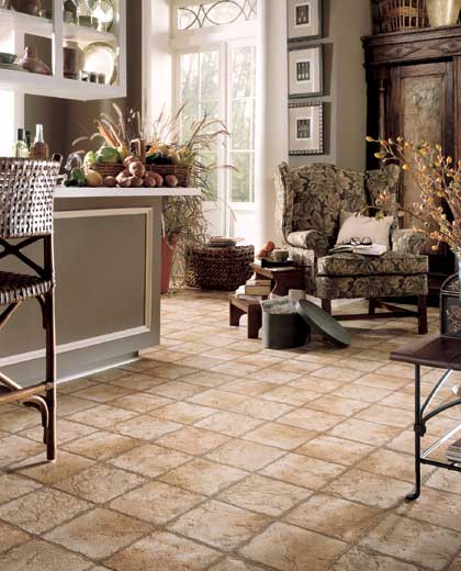 Living rooms flooring idea naturals indian slate by for Living room designs tiles
