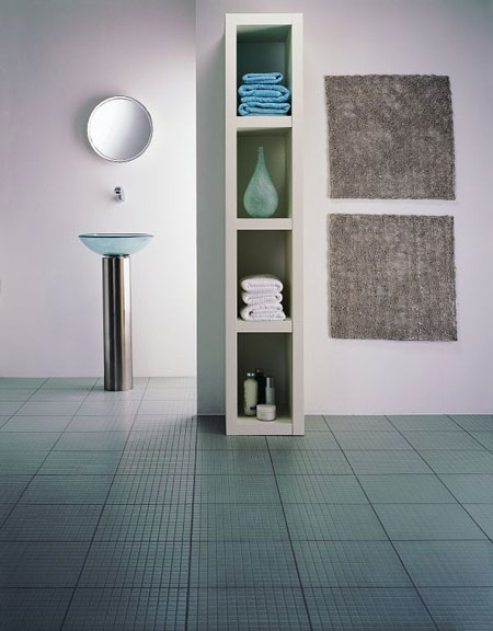 Amtico bathroom flooring ideas : Bathrooms flooring idea gl iced glass with mp silver
