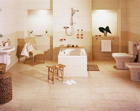 Bathroom Floors on Bathroom Flooring Idea   Sd14 Sedimentary Sandstone Light By Amtico