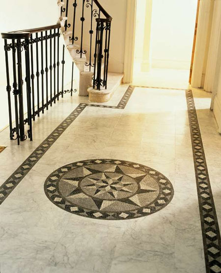 Foyers entry flooring idea medici mosaic motif by for Foyer flooring ideas