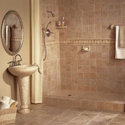 Designer Bathroom Accessories on Bathroom Designs Courtesy Of Daltile   Tile   All Rights Reserved