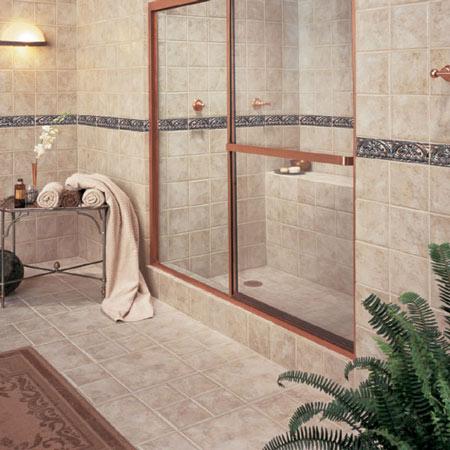 Bathrooms flooring idea fashion accents by daltile tile for Daltile bathroom tile designs