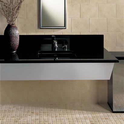 Bathrooms flooring idea gold rush mosaics by daltile tile for Daltile bathroom ideas