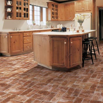 Kitchens flooring idea benchmark catania by mannington for Vinyl floor ideas for kitchen