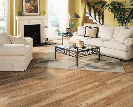 Living Rooms Flooring Idea Hickory By Mullican Hardwood Flooring