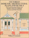 Click here for larger photo of Victorian Domestic Architectural Plans and Details: 734 Scale Drawings of Doorways, Windows, Stairs