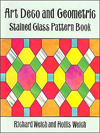 Click here for larger photo of Art Deco and Geometric Stained Glass Patterns Book