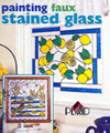 Click here for larger photo of Painting Faux Stained Glass