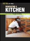 Click here for larger photo of Renovating a Kitchen (For Pros by Pros Series)