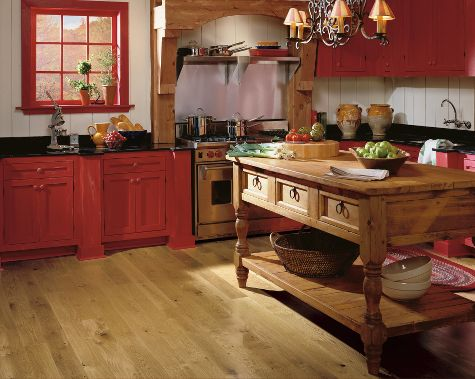 Kitchens flooring idea oak country natural by for Country kitchen floor ideas