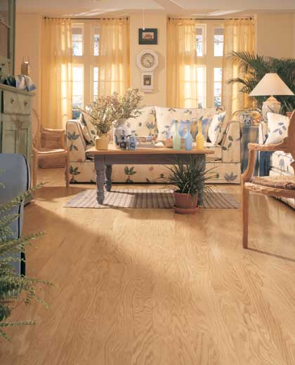 Living rooms flooring idea concord oak plank by for Living room ideas oak flooring