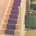 Country Staircase is Alive with Color