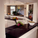 Click here for larger photo of Silestone quartz surface in the kitchen