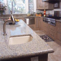 Click here for larger photo of Silestone� quartz surface in the kitchen