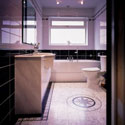Click here for larger photo of IM13 Imperial Marble Grey with B13 Marquetry Border and MC3 Small Star Motif