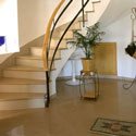Click here for larger photo of Silestone® Quartz Surface on the stairs