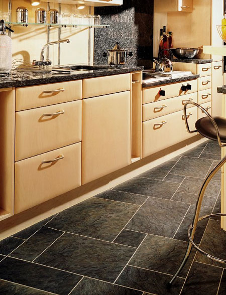 Kitchens Flooring Idea SN36 Norwegian Slate Silver With